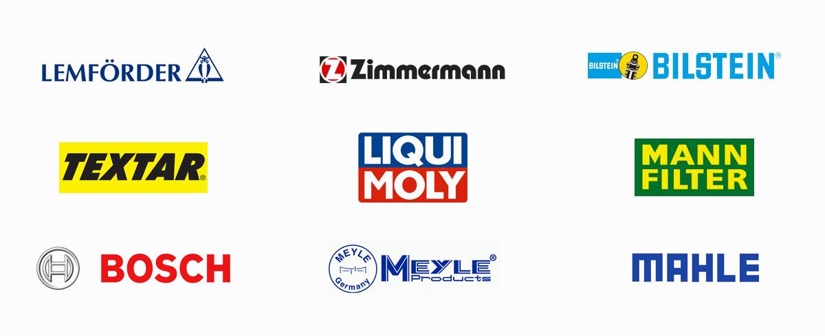 european parts supplier logos