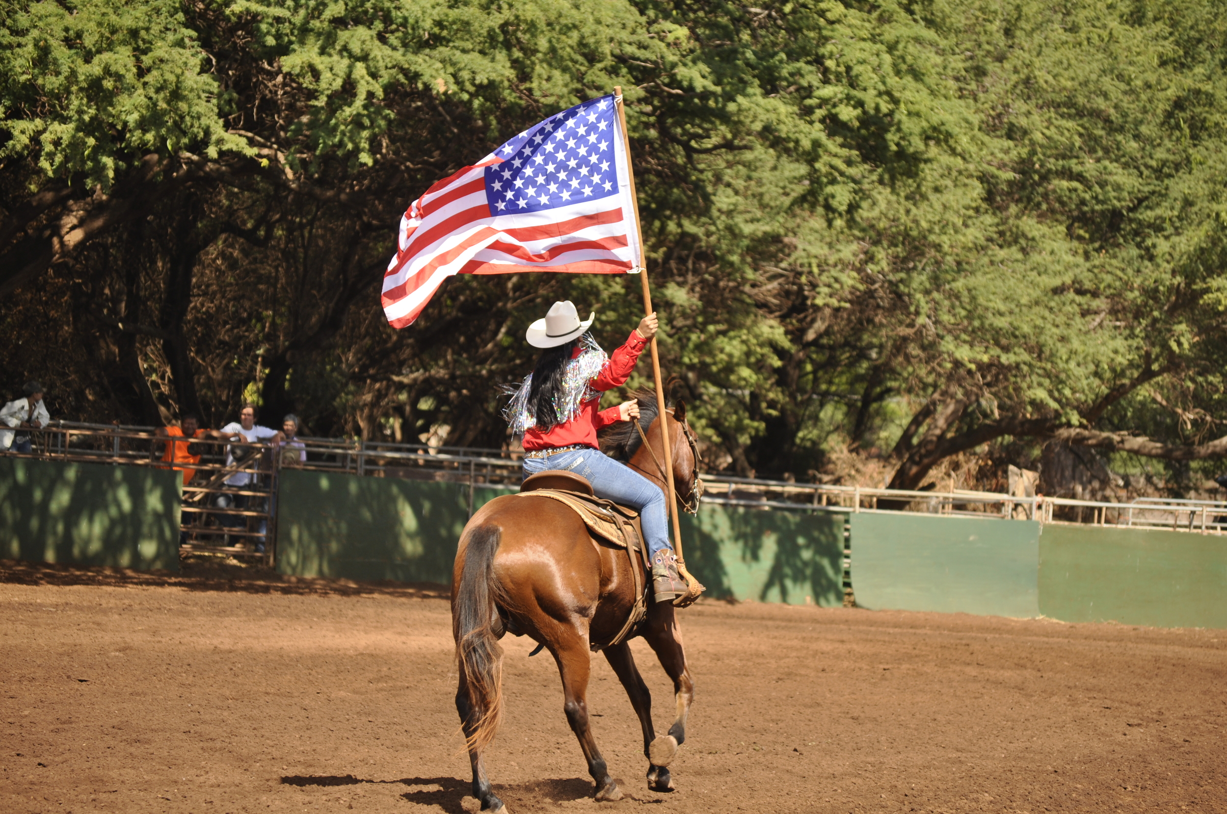 No Stampede is complete without the flying of Old Glory.