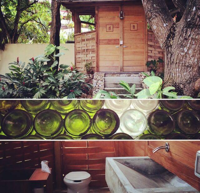 Nuestros baños secos en el jardín