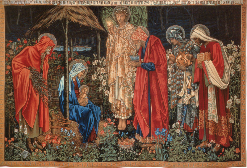 The Adoration of the Magi , by Morris & Co. One of these tapestries hangs in the Birmingham Museum &Art Gallery, where I first saw it,to this day.