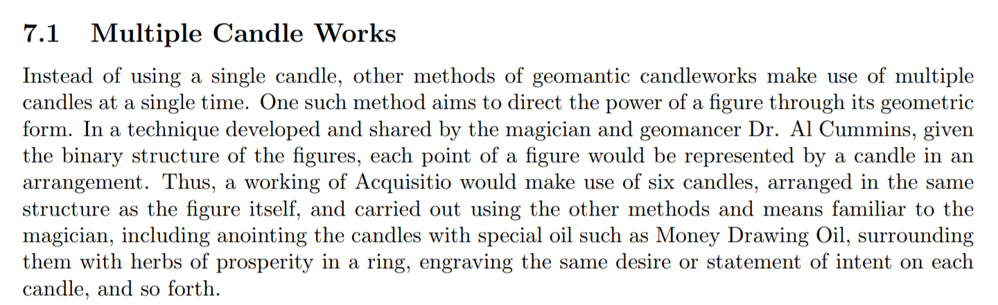 Excerpt from  Sam Block 's new text on geomantic magic,   Secreti Geomantici  ,  in which he summarises one of my approaches to this sort of figural sorcery.