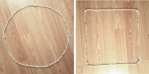 Lunar Circlet of Chasmodai , in moonstone and quartz. Squared by the corner-points.
