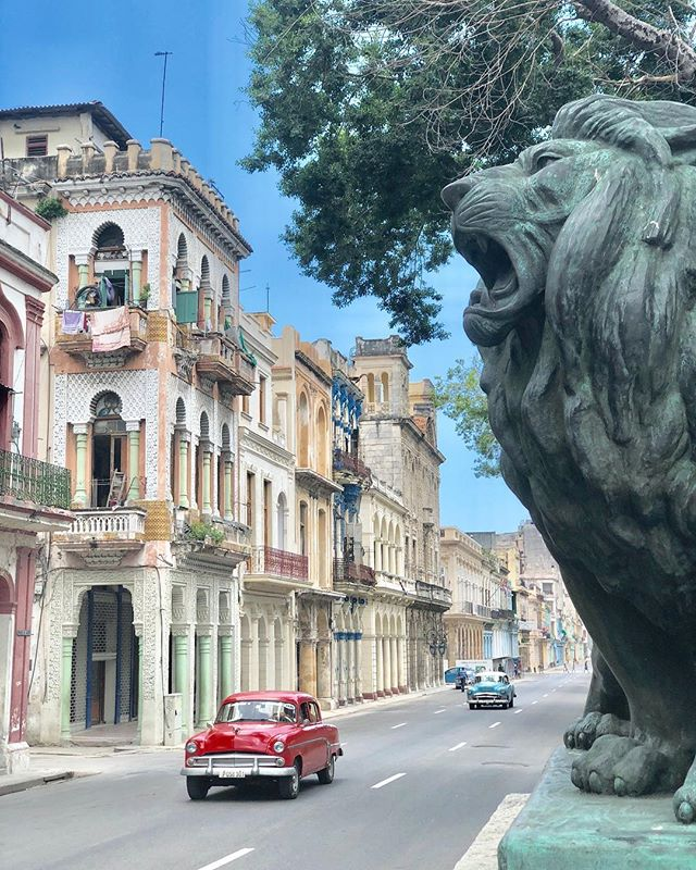 Cuba is a rolling museum of vintage American classic cars!  Like this pic if you want to add taking a ride top-down through the colorful streets of Havana in one of these to your bucket list! @hiphavana • • • 📷: @quailtree