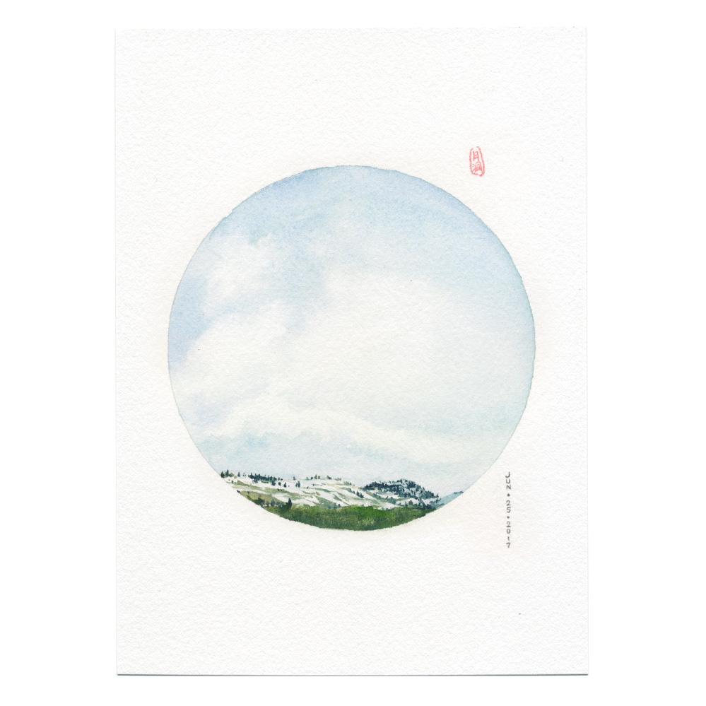 Merritt watercolor landscape painting