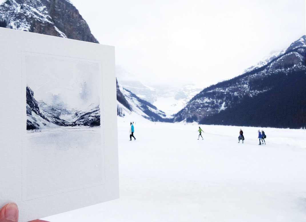pleinair Lake Louise by wanru kemp.jpg