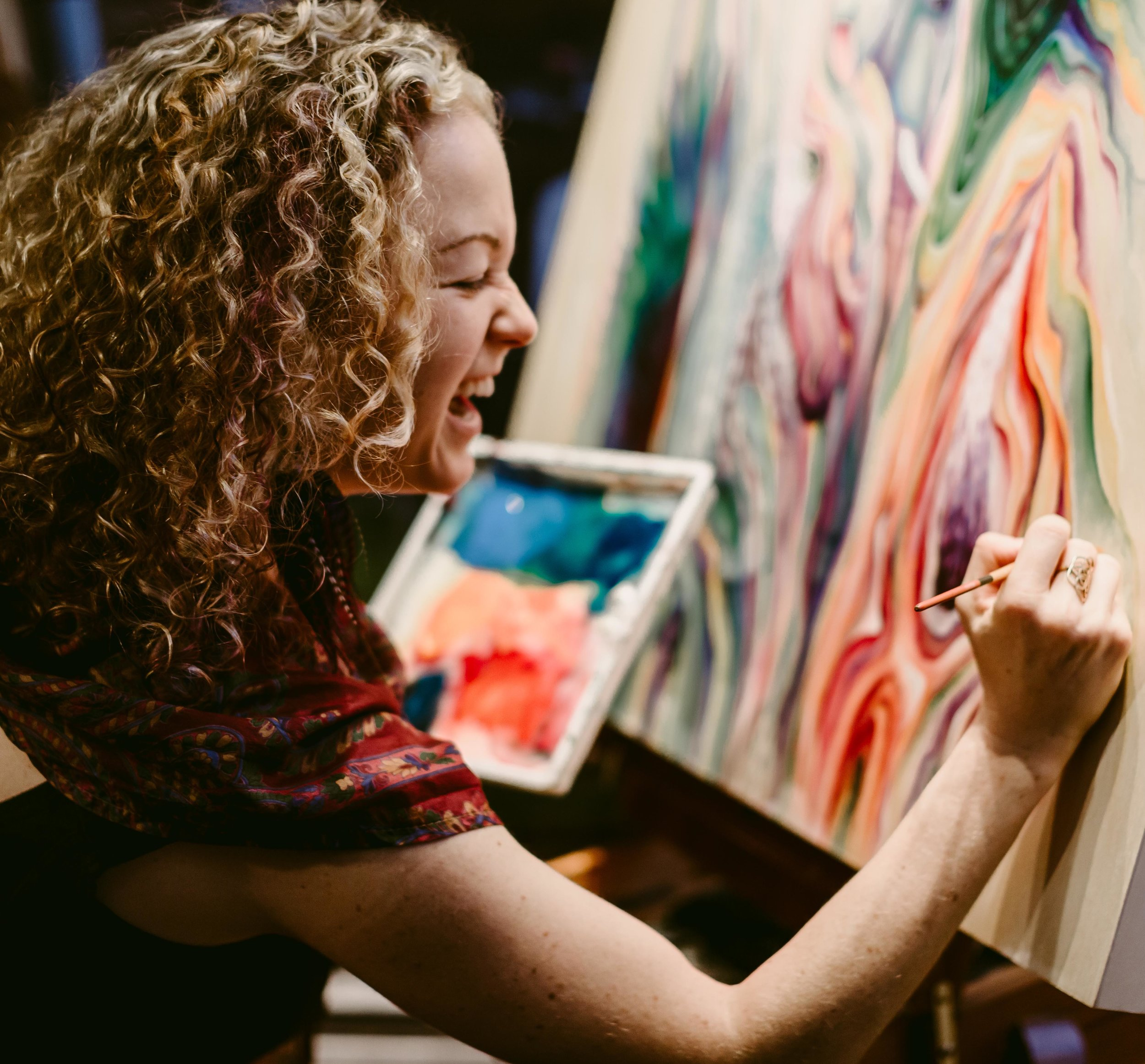 LOVING live painting at a New Year's Eve Ball in Vancouver! (Photo Credit: Kristine Cofsky, kristinecofskyphotography.com)