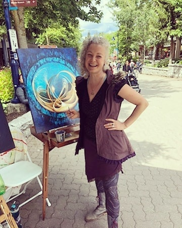 TODAY! I'll be live painting in Whistler Village @ Town Plaza from 1-4pm! So fun! Drop by if you're in town...i love company while i paint! 😍  Thank you @artswhistler for making this happen!  #artswhistler #weheartlocalart #fallforarts  #seatosky #Whistler #Blackcomb  #WhistlerBlackcomb #Squamish #HoweSound #seatosky #artist #canadianart #landscapepainting #abstractlandscape #color #art #mountainlife #mountainlove #mountainculture #onlyinwhistler #whistlerart #newpainting #natureart