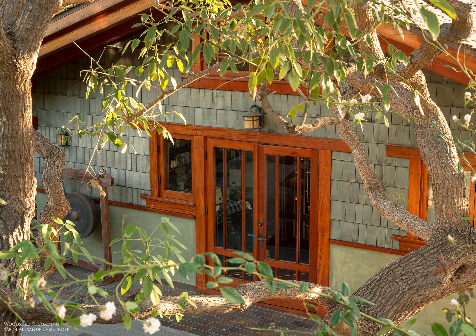 woodshed recording studio malibu office entrance