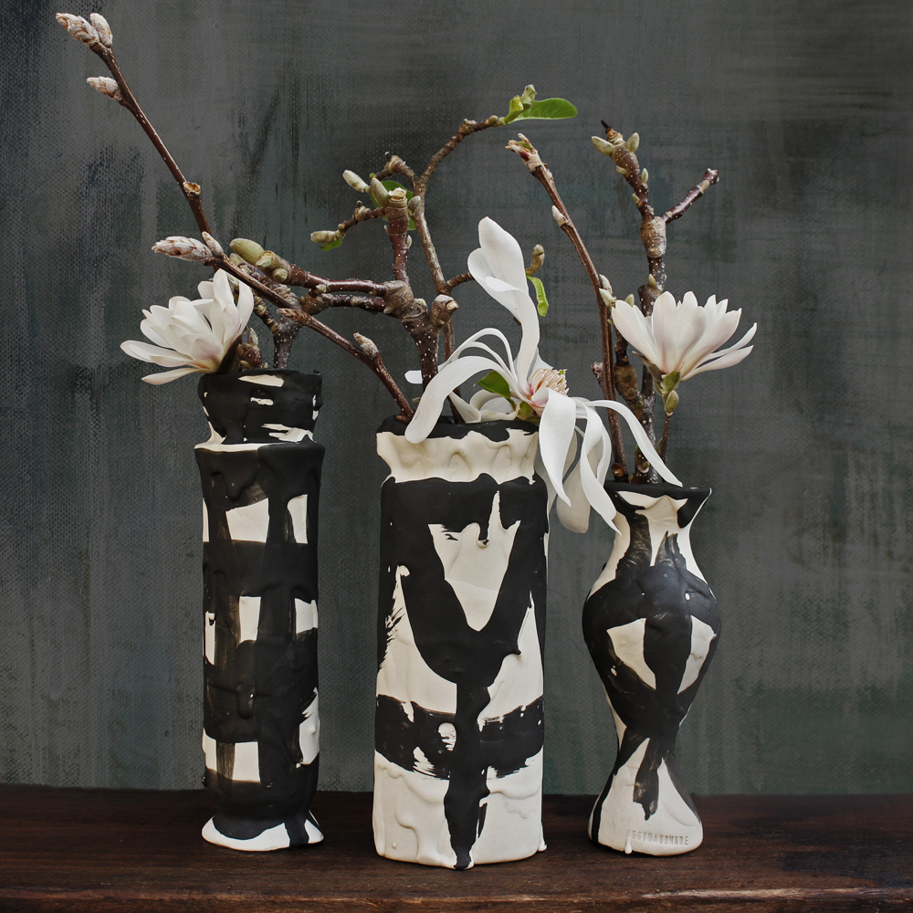 Beautiful vases from the Driptopia series by  Iggy and Lou Lou