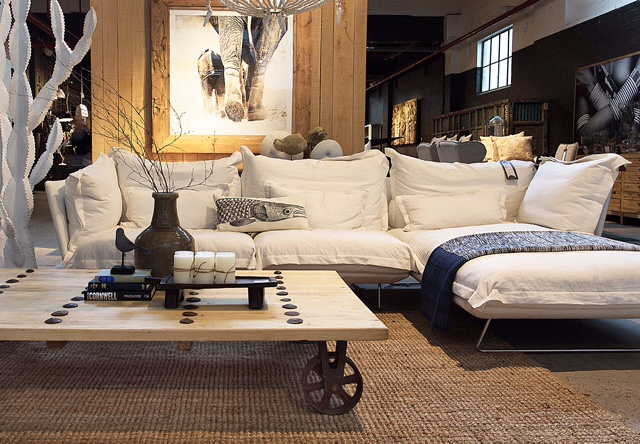 Get lost in the huge range of cloud like linen sofas and natural timbers.
