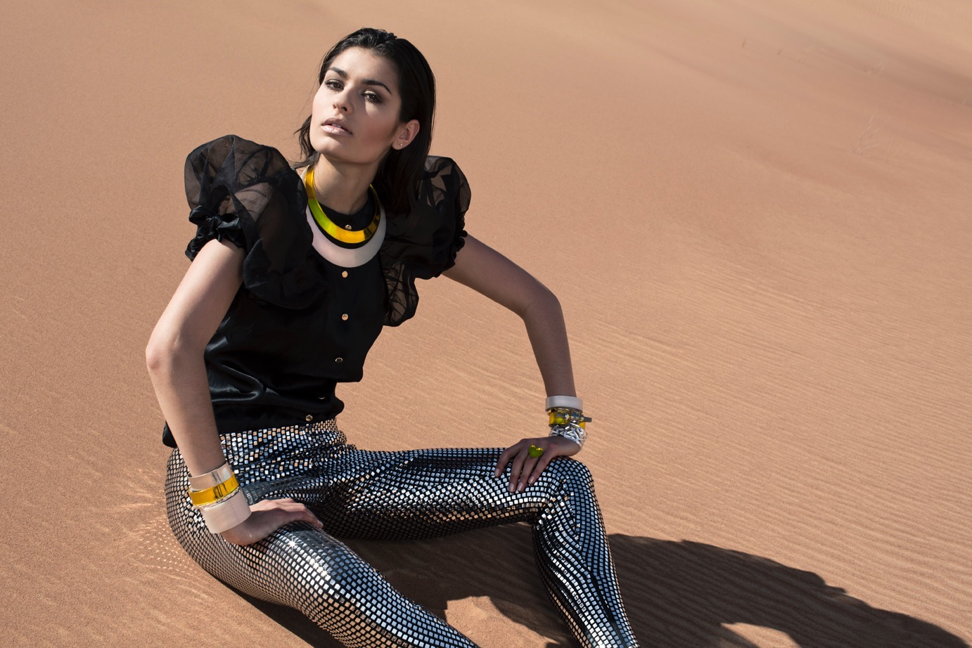 Statement jewellery pieces have a very glamorous feel.
