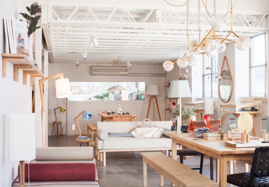 Douglas and Bec, Collingwood.  Beautiful hand made furniture and lighting and an enviable collection of ceramics and decorative pieces.