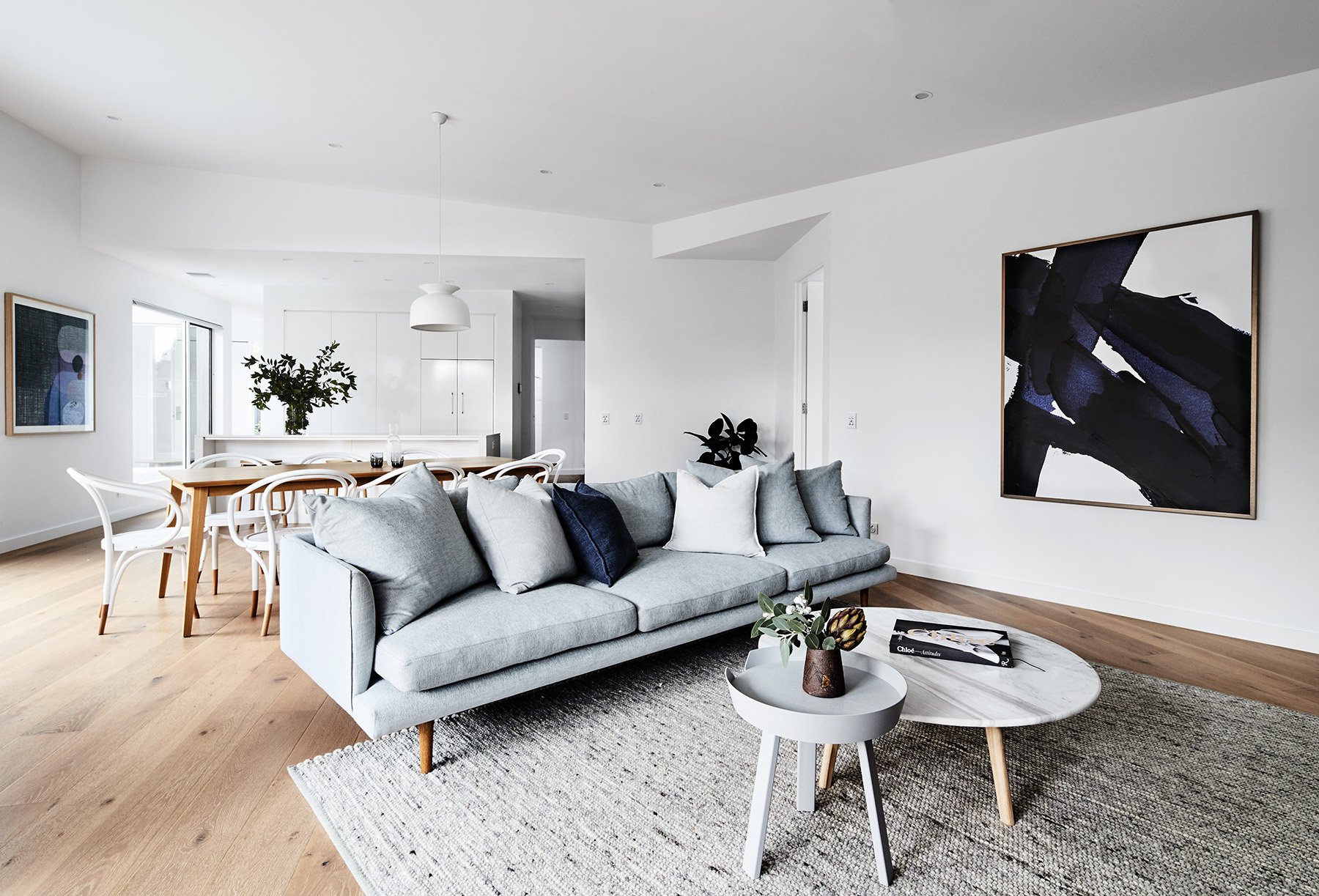 """'#Indigo 1"""" (on right) is available as a limited edition print through SGM - but hurry there's not many left! Styled by me for  Thomas Archer Homes , photography  James Geer ."""
