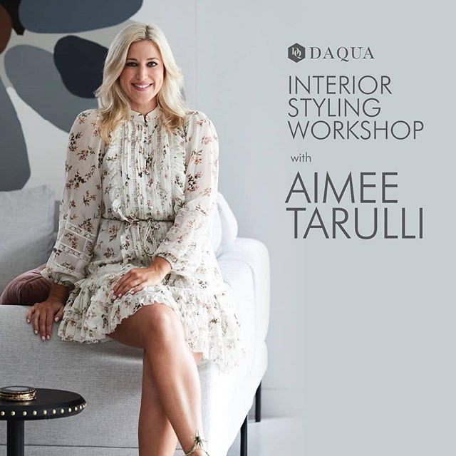 Who is coming to my interior styling workshop this Friday?! I can't wait to see some familiar faces and answer all your decorating Qs!!! ✨  #Repost @shopcollins234 ・・・ This Friday 20th September at 12pm sharp @daqua.interiors is hosting a Interior Styling Workshop with Aimee Tarulli! 🤩  Super interior stylist @aimeestylist will teach us how to create fabulous looks as well as elevated and beautiful spaces. 🛋️ PLUS attend the free workshop and go into the draw to win a $500 @daqua.interiors voucher! 🎉