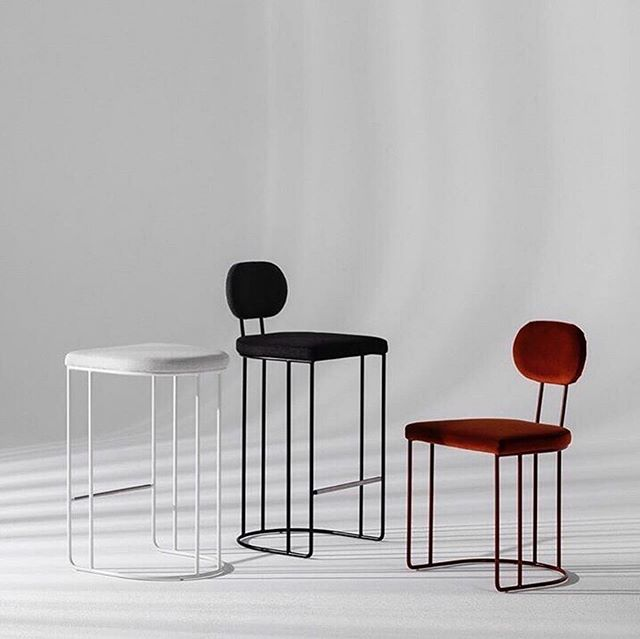 Totally crushing on these stools 💯  #Repost @meanwhile_in_melbourne ・・・ Love this collaboration 🖤 @anacastudio and @stylecraftfurniture // Super sleek and beautiful design well done team, digging the velvet !