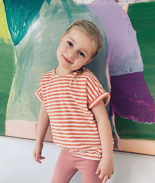 New threads @goldieandace the cutest vintage inspired clothing for cool determined little people 🥰 This terry towelling stripe tee is all kinds of CUTE! #goldieandace #kidsfashion #coolkids