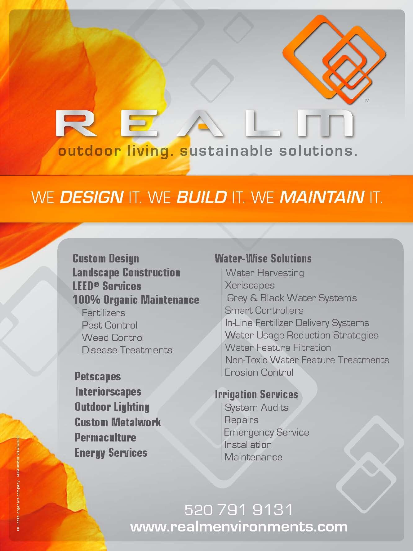 REALM Outdoor Living Sustainable Solutions
