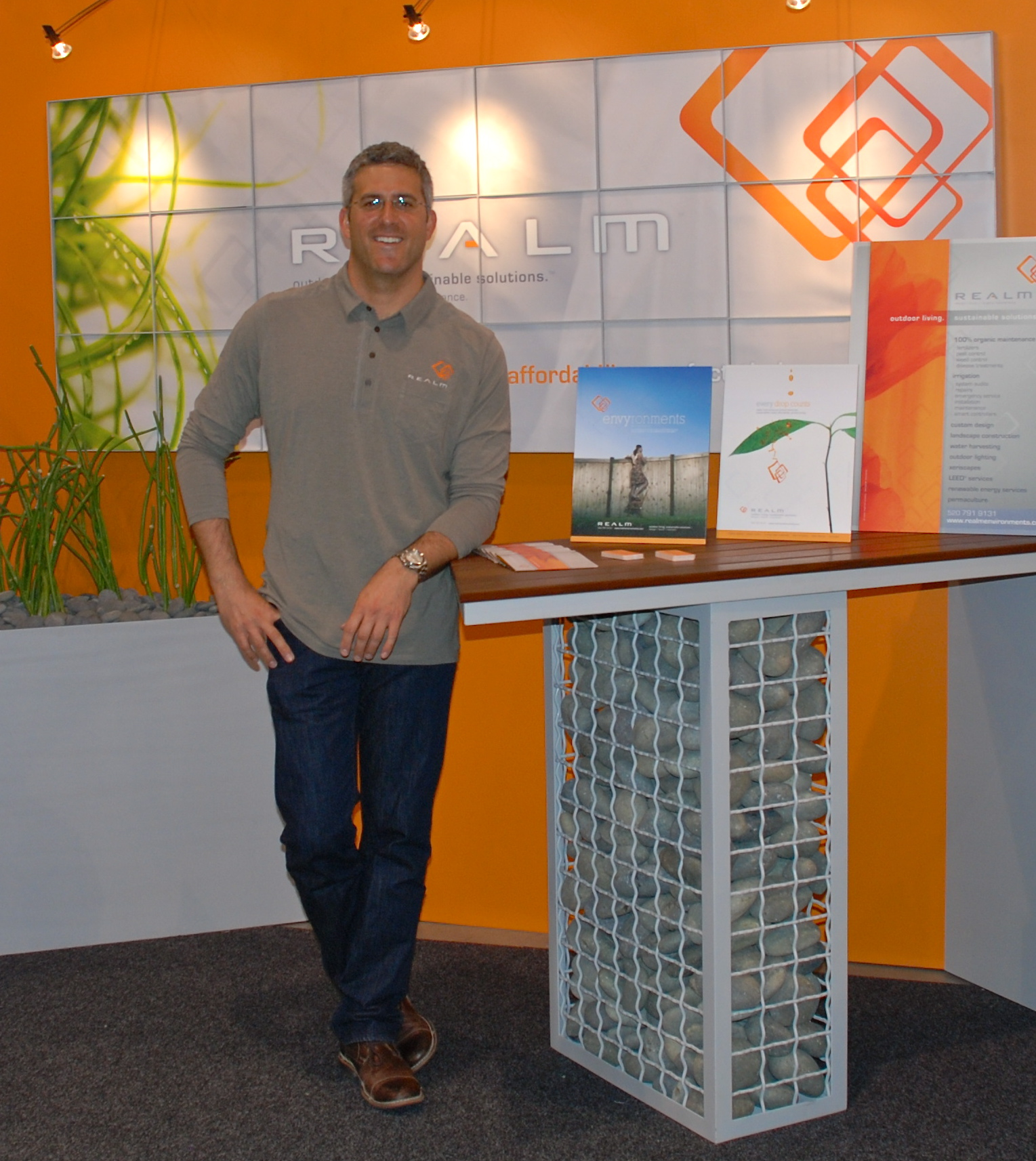 Jason manning the REALM booth at the United States Green Build Council (USGBC) Expo