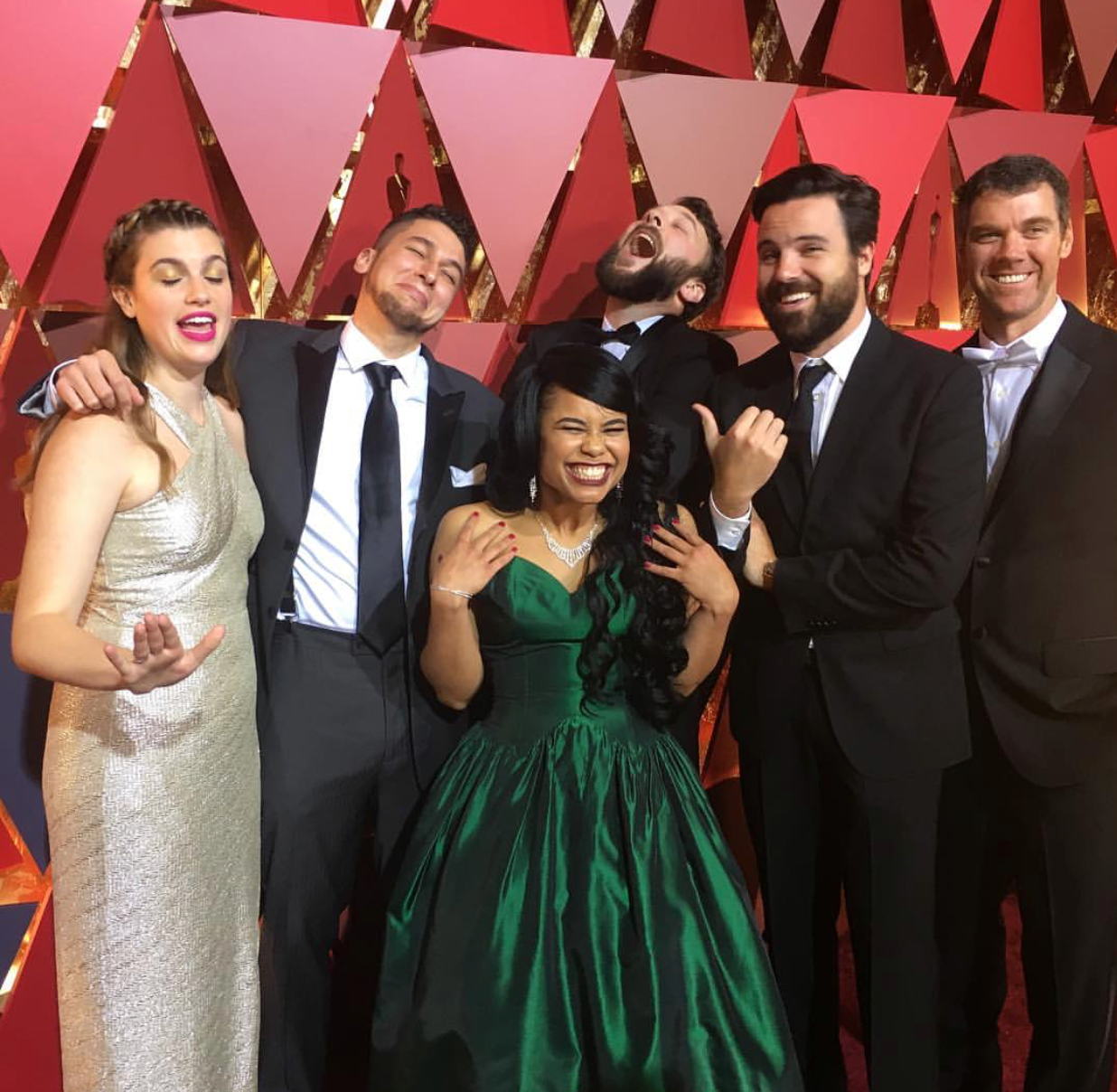 Shanae and other post-production crew members at the 2017 Oscars. Photo Credit: Shanae Cole via Instagram.