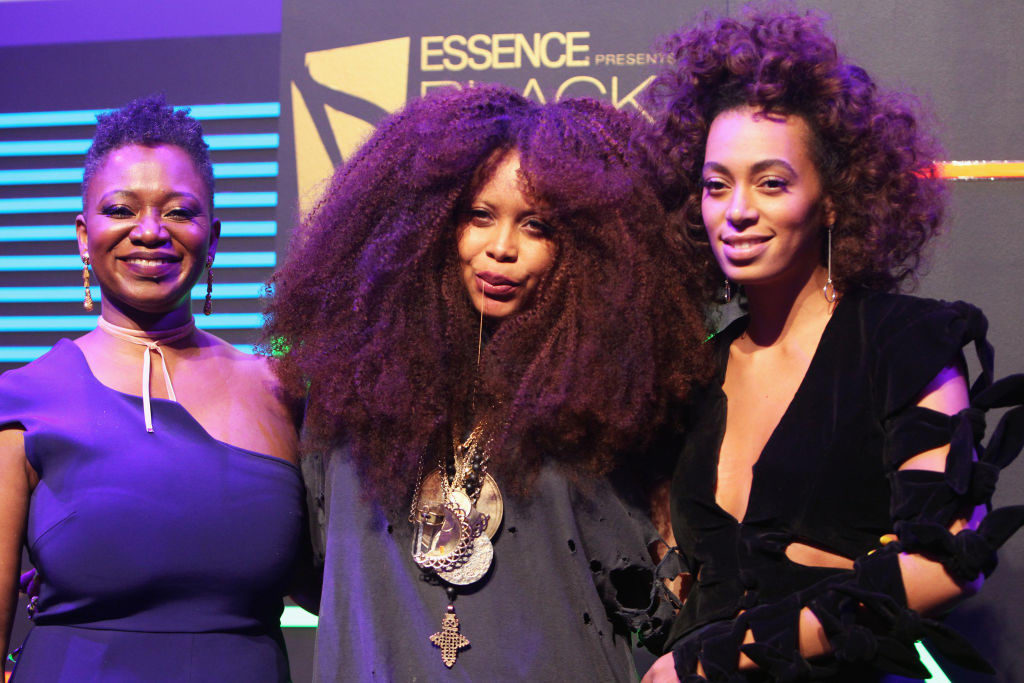 Vanessa DeLuca (EIC of Essence), Erykah Badu and Solange Knowles