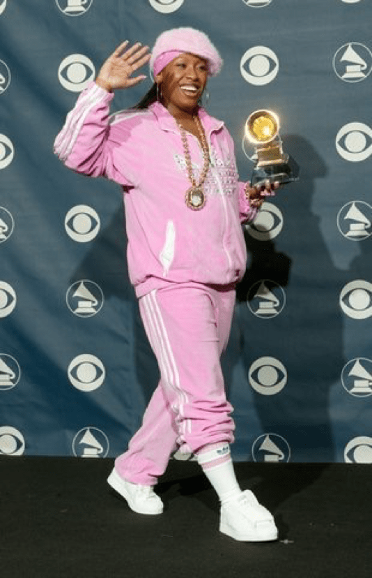 You  dress up to the Grammy's. We're just lucky Missy came.