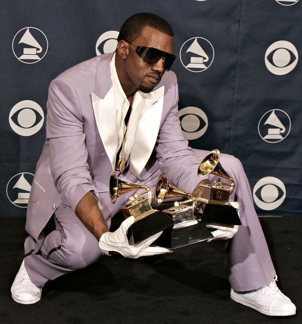 Obnoxious, but yet, appropriate. Typical Kanye.
