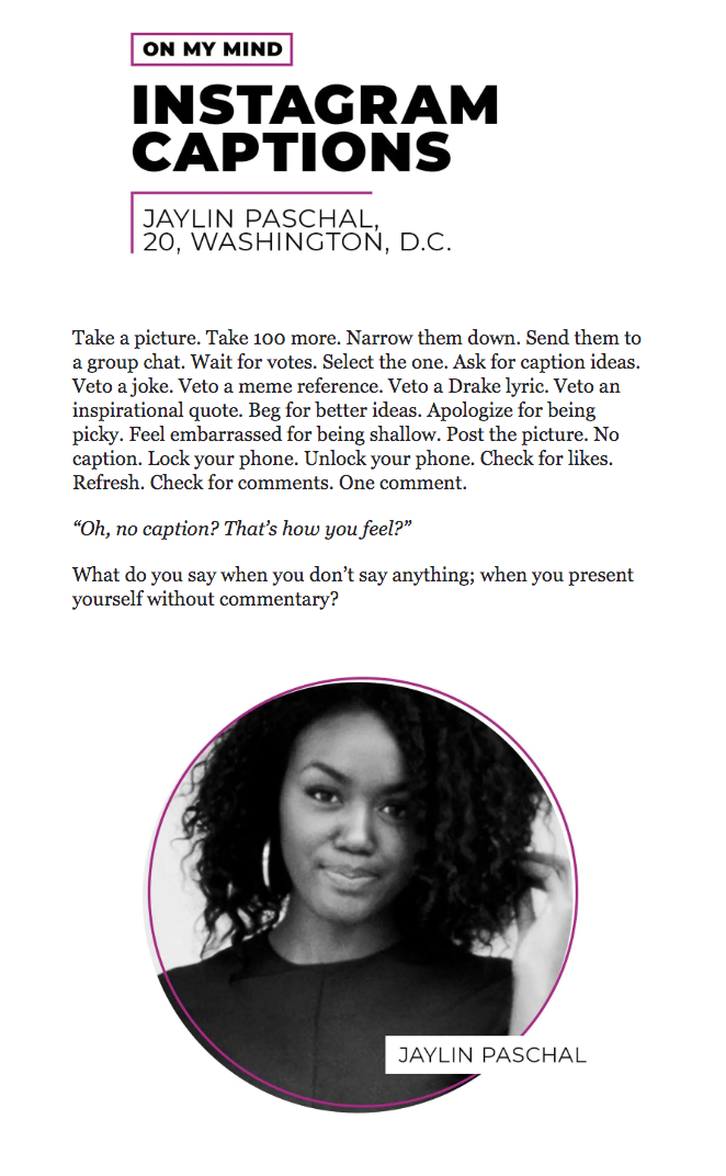 """Excerpt from """"On My Mind"""" - for The Lily by The Washington Post"""