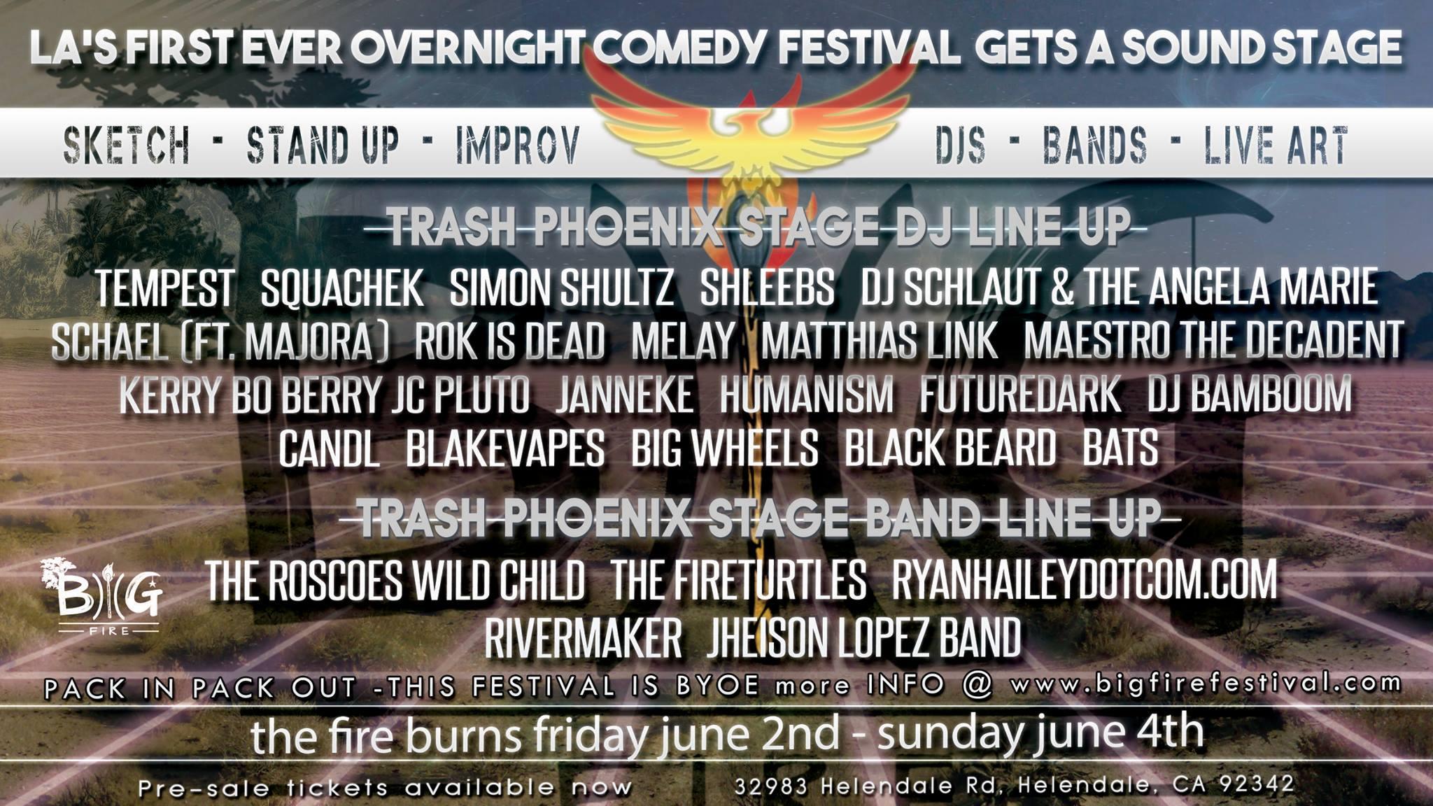 big fire 2017 music lineup