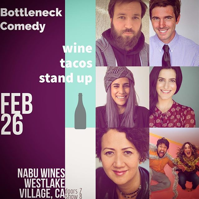 Tuesday night @nabuwines bring your fine self and get comfy with your February choices 🍷🍷SHOW STARTS AT 8pm🍷🍷 tacos and wine available Excellent comedy with a shareable photobooth! #tomorrownight #conejovalley #winenight #wine #winelover #comedyandwine #winenot