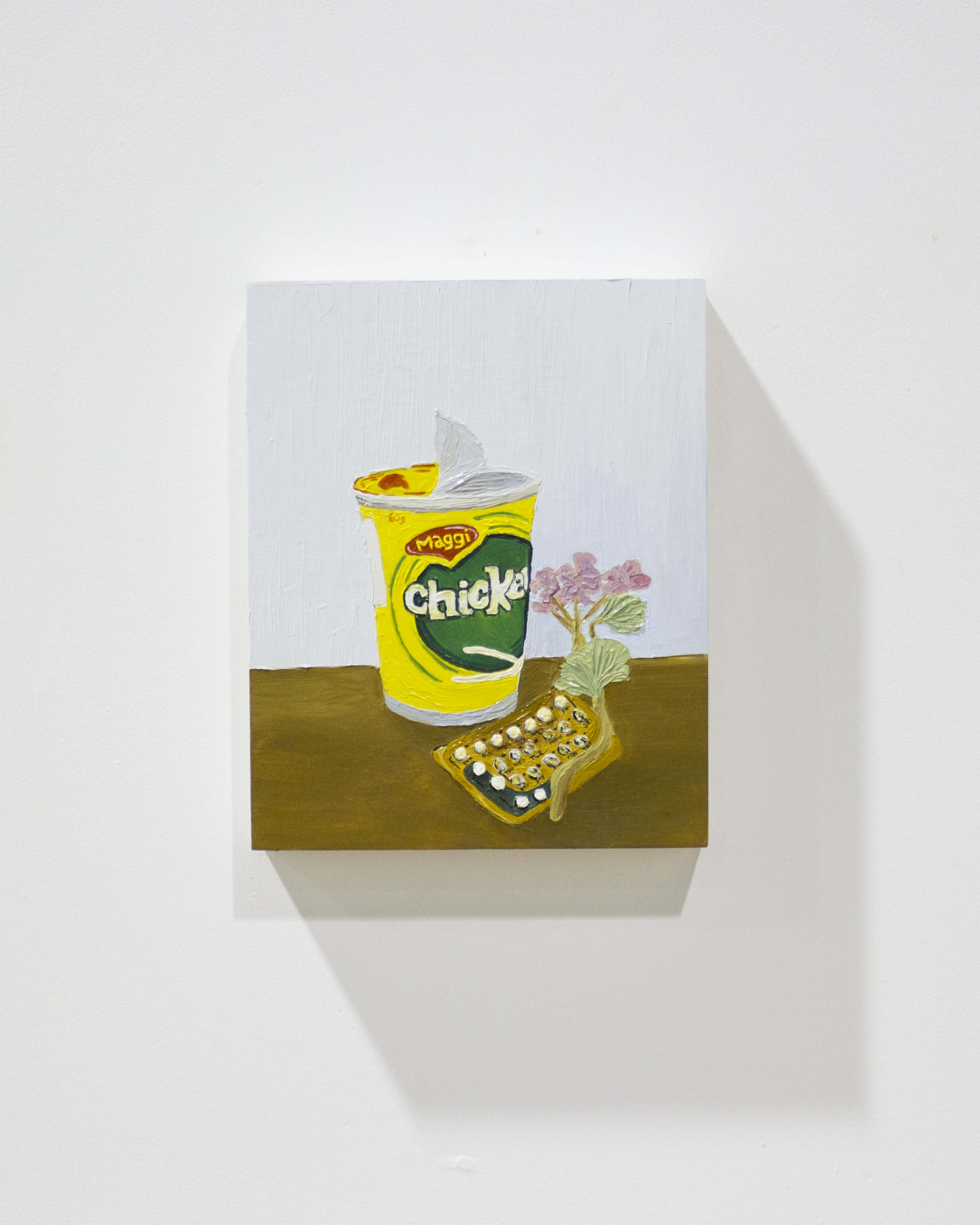 Dionne Hooyberg, Bedside Still Life, 2017. Oil on Board, 20 x 25cm. Photo Credit Paul Sutherland