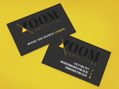 zoom consulting  business card concept design
