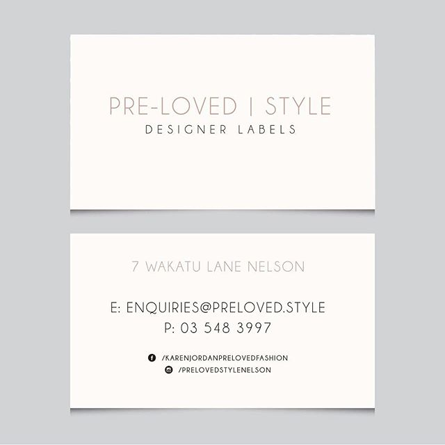 Simplicity in a perfect combination with print 😌  #graphicdesign #nelsonbusiness #design #print #business #businesscards #simplicity