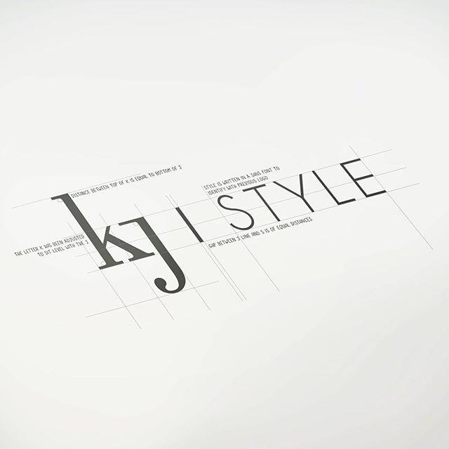 KJ Style logo process design  #design #logo #brand #branding #style #kjstyle #business #local #love #nelson #graphicdesign #designinspiration #lettering