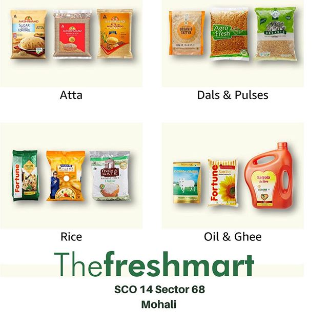 DISCOUNT LOWEST GROCERY PRICES!! UPTO 15% of on all purchases over Rs 5000/- + Additional PRODUCT DISCOUNTS till October 1 to 13 & Much More @ The FreshMart SCO14 Sector 68, Mohali T&C APPLY #groceryshopping #mohali #gourmet