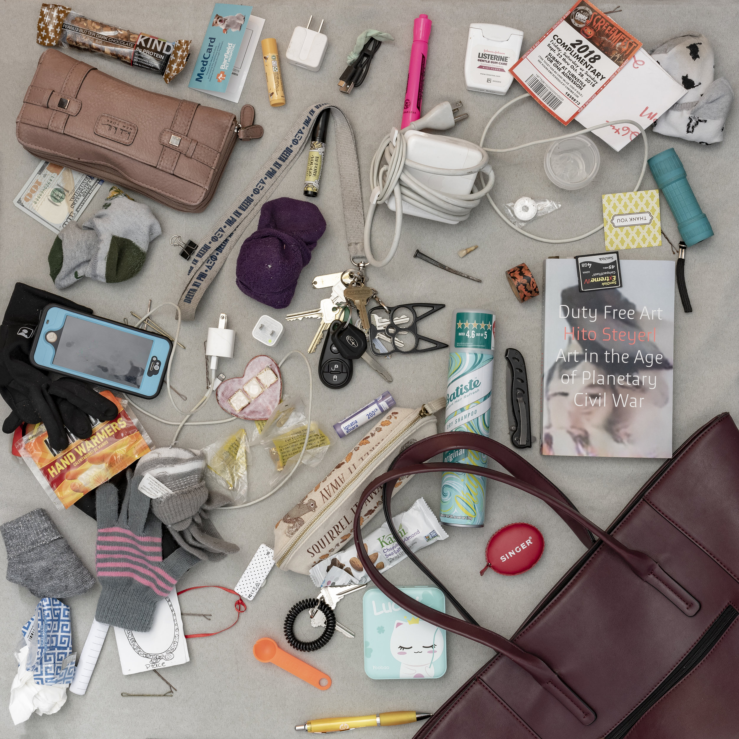 Identity. Exploring women's handbag contents as a proxy for the person.