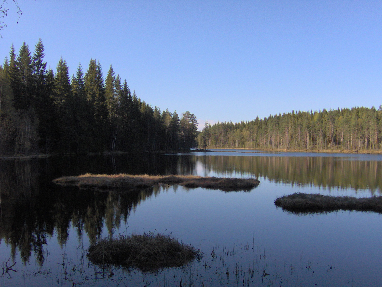 One of the many lakes nearby