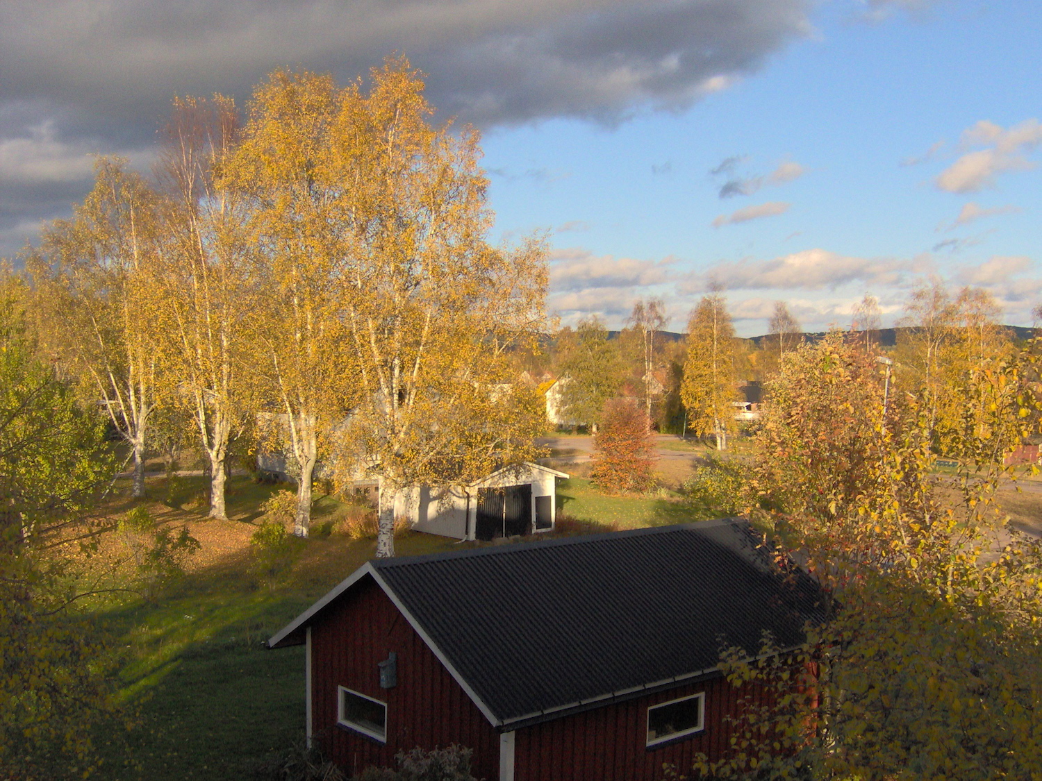 View over Munkfors from the bedroom
