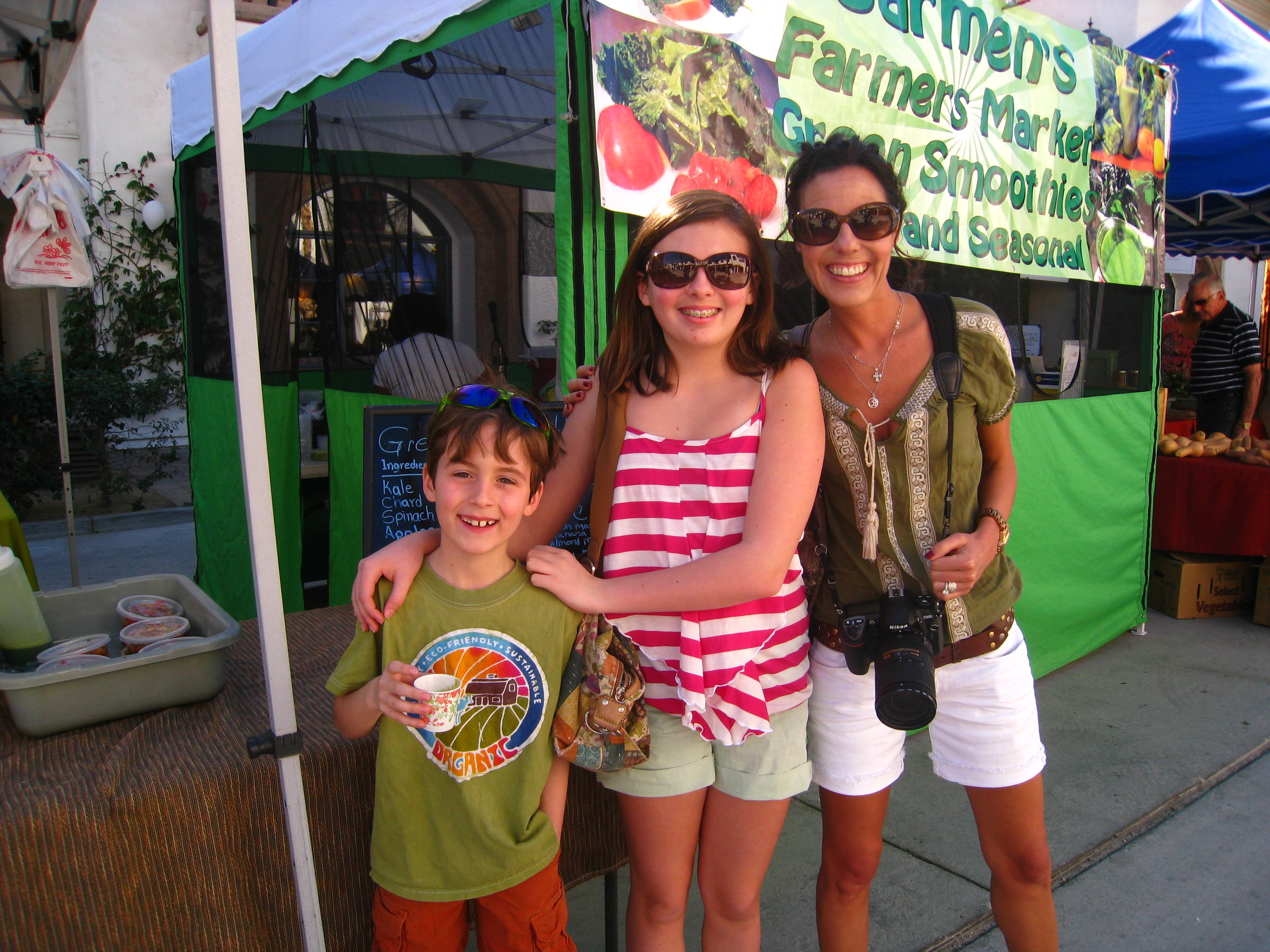 Visiting farmers markets can also be fun on vacations. This is a market in Palm Springs, Ca.