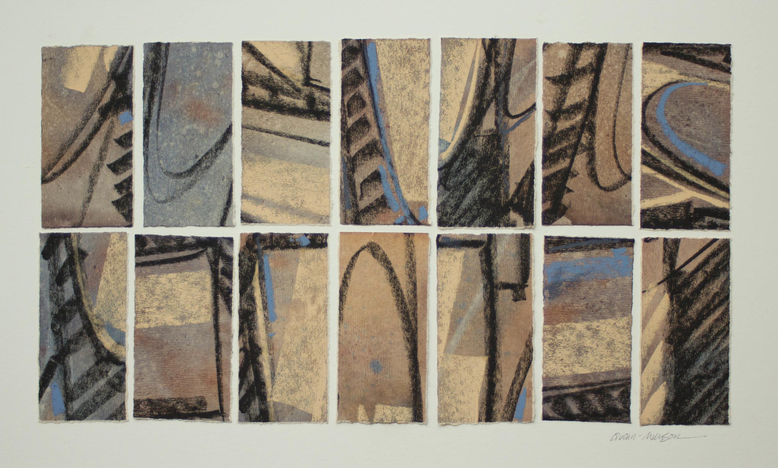 "Deborah Quinn Munson ""Inspiration"" 12 x 20 mixed media"
