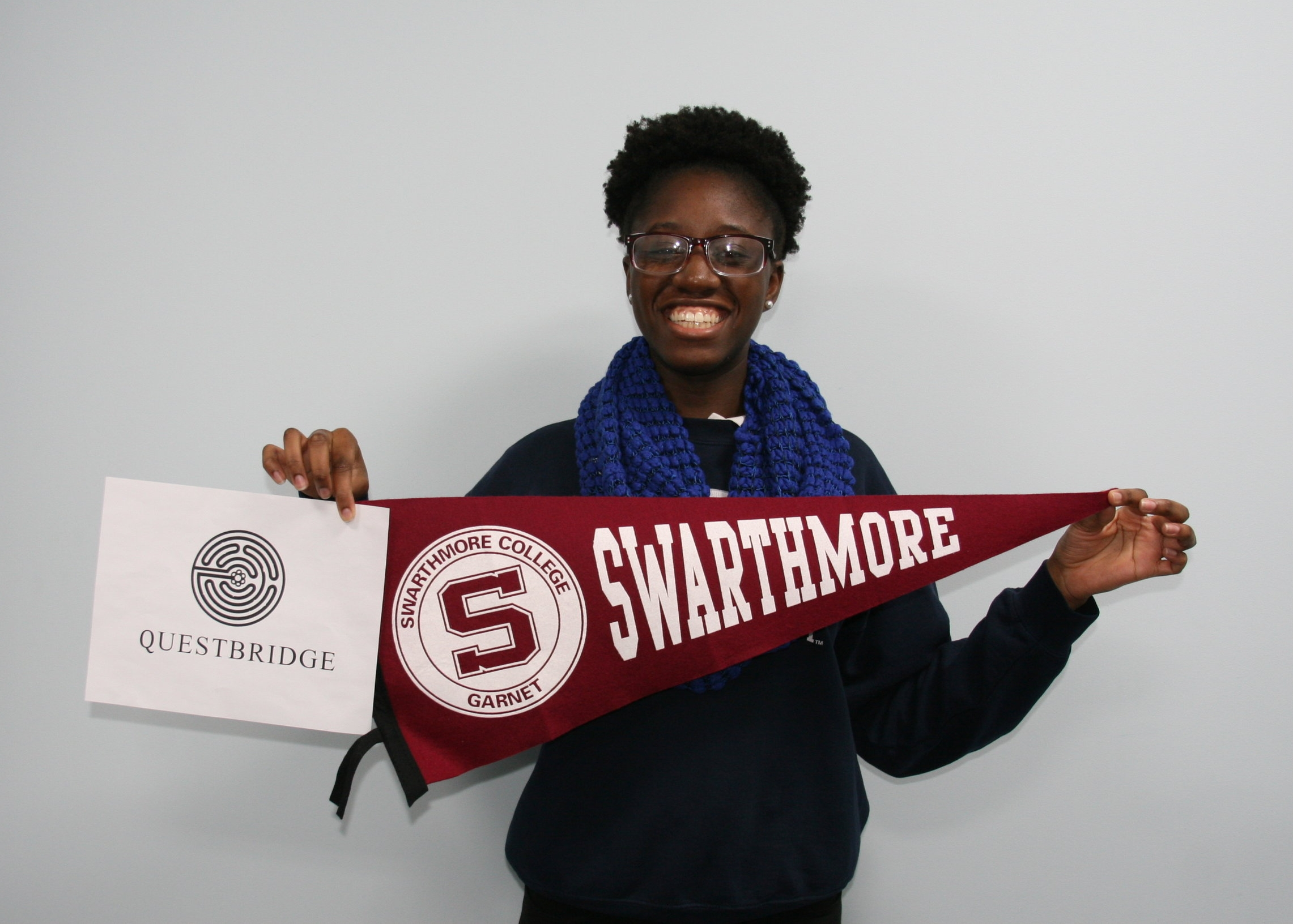 Amy-Ann has found out she was accepted to Swarthmore College with a full scholarship!
