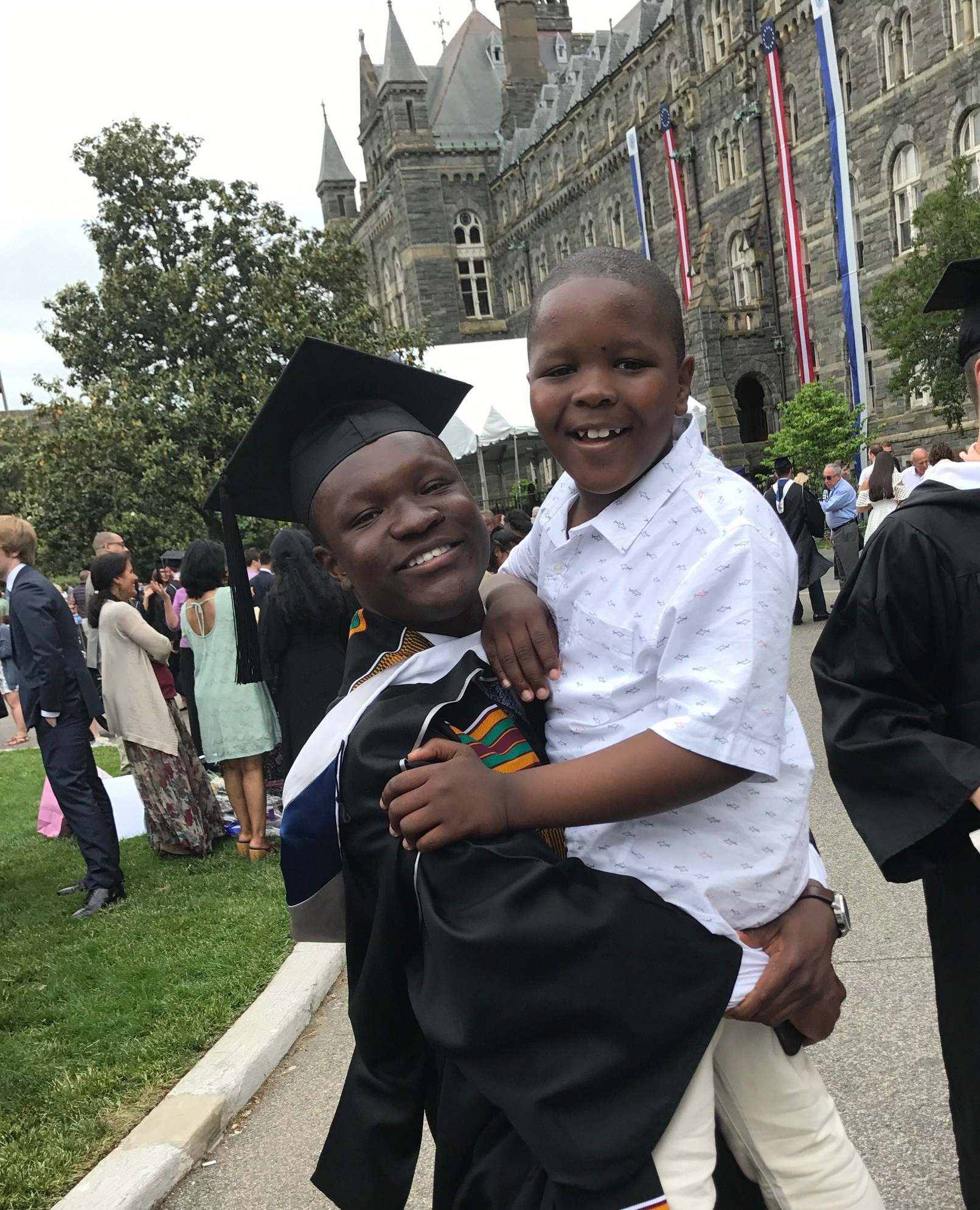 Abdurrahman and his little brother at his 2017 Georgetown University graduation!