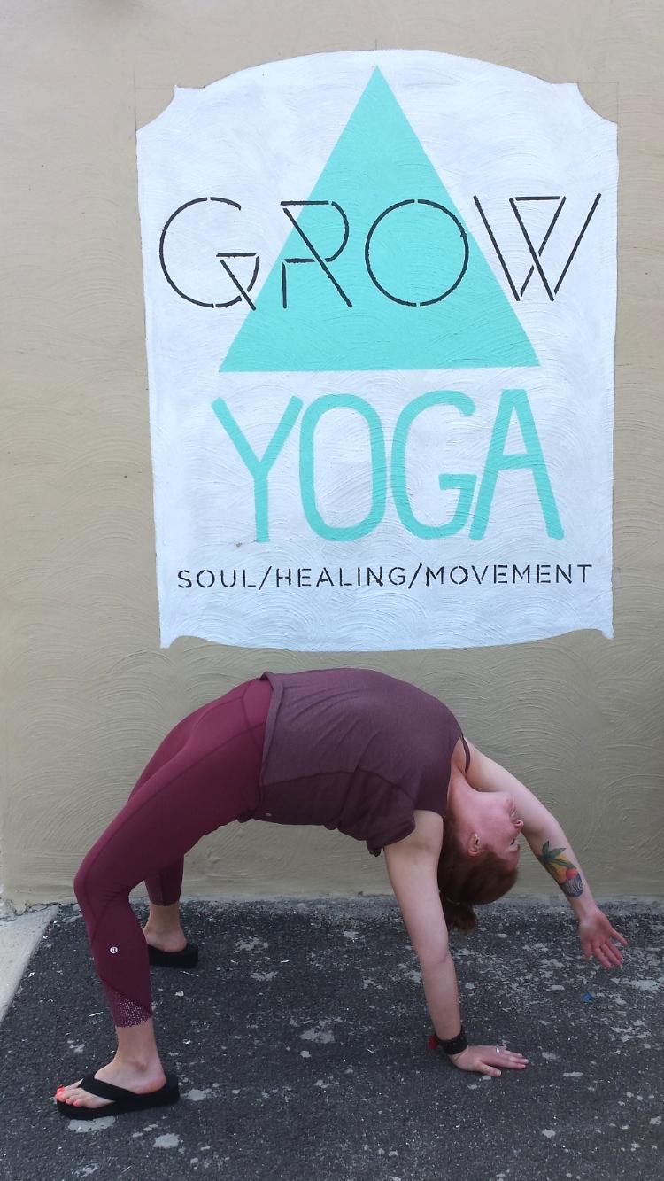 Kellie Conrad at GROW Yoga