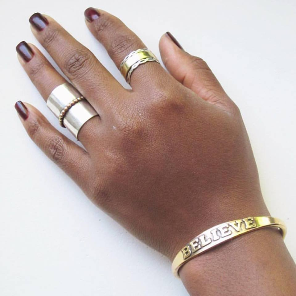 Give the ones you love a little inspiration this year .. For  20% OFF with online code KHAFRA ! – Scoop up one of   Hecho en Harlem' s  BELIEVE bracelets (and then get us EVERYTHING ELSE ON THE SITE)!