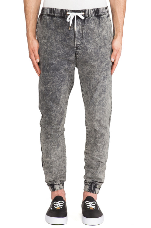 shoparifitz :     $67.  Acid Trip Pant via  Revolve Clothing .  Remember that one blog posted to the Khafra Co. tumblr about sweatpants?  No?  Read it  here .  Sweatpants are still happening in a big way, and I'm really feelin' how these sweatpants bring us back to the '90s with the acid washed jean feel, but they ground us in the present with cuffed and elasticized ankle openings and a drawstring waist.   It's the best of both worlds .  Check it out  here .