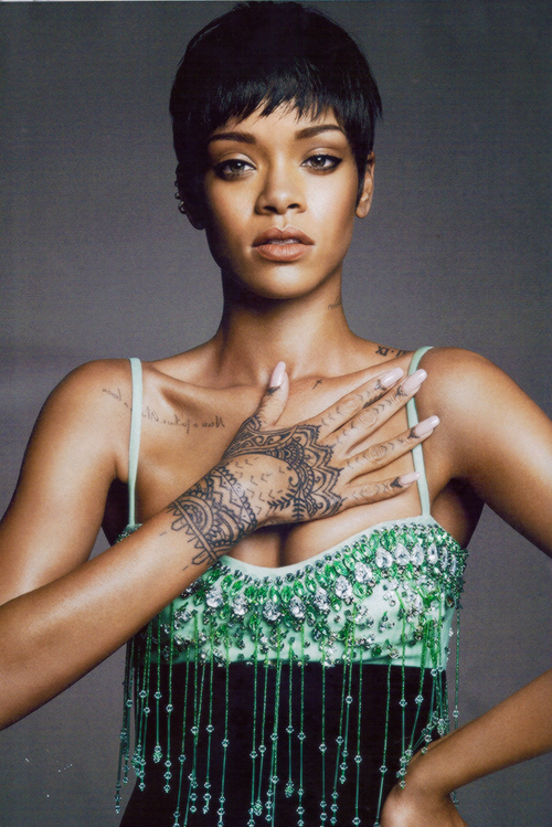 @Rihanna, & Beauty is her name.   HQ Magazine Scan of Rihanna for US Vogue 2014
