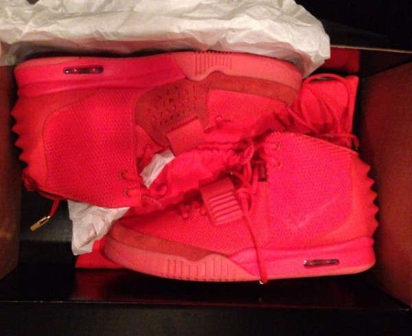 Air Yeezy 2 'Red October'  will be available online only  at 8 AM EST on December 27th. #yeezy      In an interesting turn of events, Footlocker has put a release date on Kanye's long-awaited Air Yeezy II sneakers.   After  publicly denouncing  Nike in favor of his new deal with Adidas, most of us thought the Air Yeezy's would never see the light of day.   ( source )
