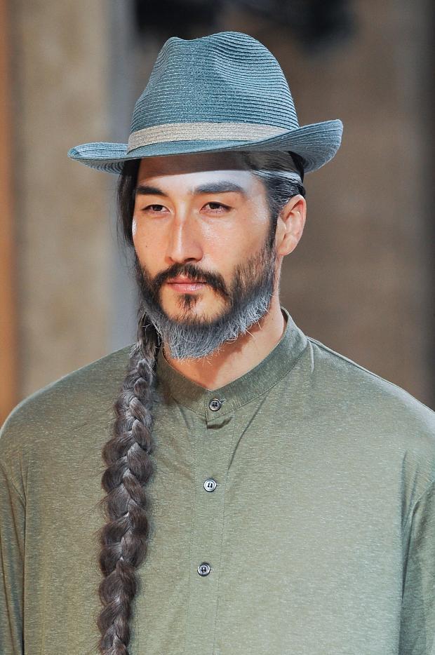 "acciotico :      lorenzonoir :    YOHJI YAMAMOTO  s/s 2014 RTW Menswear      Holy Spirit of ""yes."""
