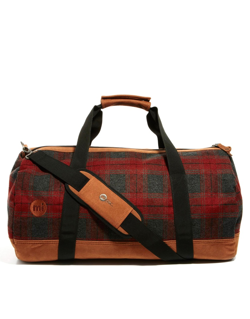 This Mi Pac plaid duffle/weekender  is so great. I like the price too—only $62.