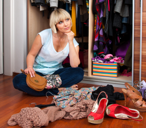 "National Simplify Your Life Week –> Tip #2 ""FOLLOW THE 6 MONTH RULE""    It's simple.  Bought it?  Haven't worn it in 6 months or more?     Give it to Goodwill, a friend, a thrift shop, a consignment store … JUST GET IT OUT OF YOUR CLOSET."