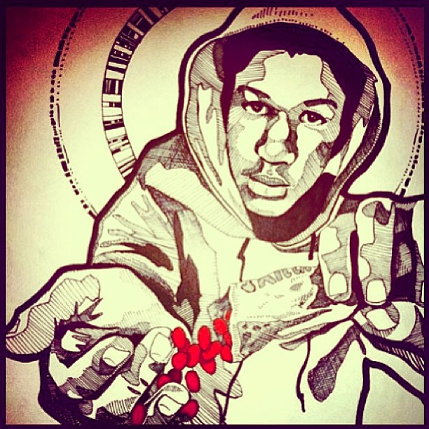 kholioli :     A #reminder to #remember —> #trayvonmartin (art by @missammo) (at In Our Hearts)